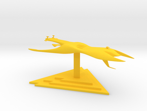 Drakh - Cruiser (6 x / 3.558 y / 2.138 z) in Yellow Processed Versatile Plastic