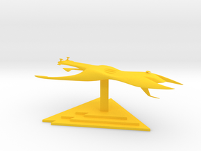 Drakh - Carrier (7.298 x / 4.328 y / 2.6 z) in Yellow Processed Versatile Plastic