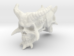 Demon Skulls 1:6 scale in White Natural Versatile Plastic