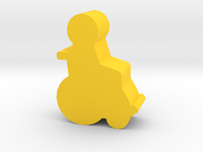 Game Piece, Wheelchair Patient in Yellow Processed Versatile Plastic