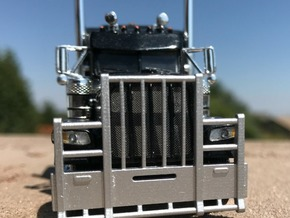 Peterbilt Vertical bar Bumper in Smooth Fine Detail Plastic