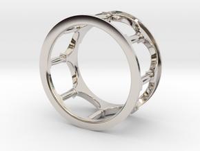 Hacienda Ring in Rhodium Plated Brass: 4.5 / 47.75