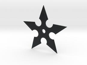 Ginko Shuriken Tool in Black Hi-Def Acrylate: Small