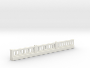 Triple Underpass NE Wing Wall Complex in White Natural Versatile Plastic
