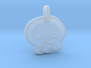 Skully Halloween Pendant in Smooth Fine Detail Plastic