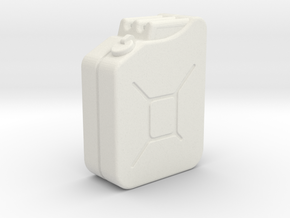 1:35th Scale Jerry Can in White Natural Versatile Plastic