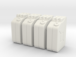 1:35th Scale Jerry Can 4 Pack in White Strong & Flexible