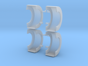 spread axle show fenders in Smooth Fine Detail Plastic