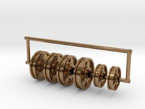1/72 USN Crane v3 Pulleys Set in Natural Brass (Interlocking Parts)