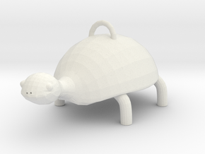 Turtle  in White Natural Versatile Plastic: Small