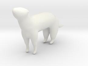 Curious Ferret in White Natural Versatile Plastic