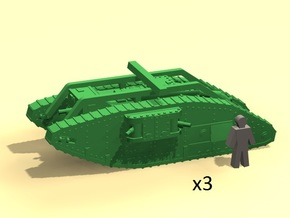 6mm Mark V Female tank in Smoothest Fine Detail Plastic