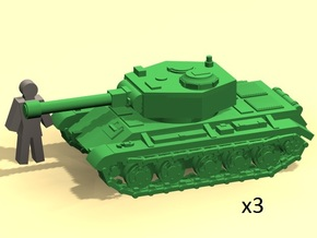 6mm WW2 tank (3) in Smoothest Fine Detail Plastic