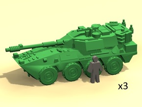 6mm B1 Centauro armored car (3) in Smoothest Fine Detail Plastic