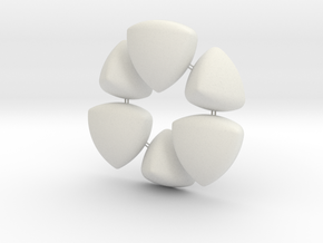 Wonky Balls - Solids of Constant Width in White Natural Versatile Plastic