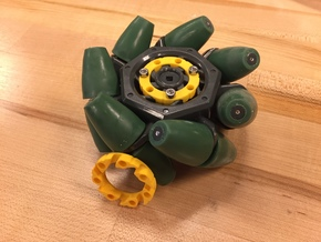 VEX Mecanum Wheel Adapter Backs in Yellow Strong & Flexible Polished