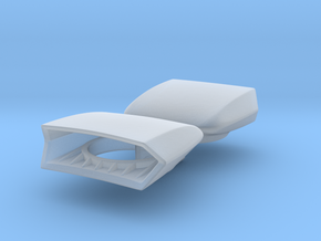 1/25 Wedge Scoop For 4-barrel Carbs (x2) in Smooth Fine Detail Plastic