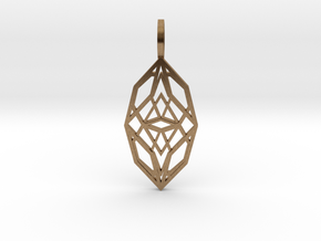 Cocoon of Light in Natural Brass