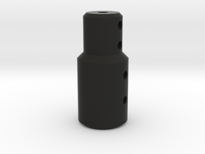 Coupler for 8mm shaft in Black Natural Versatile Plastic