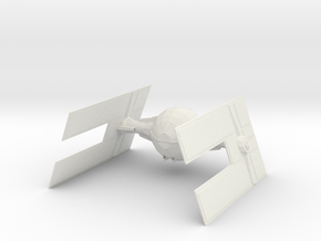 Tie Droid Fighter in White Natural Versatile Plastic