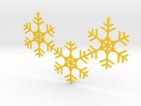 Snowflakes Necklace in Yellow Processed Versatile Plastic