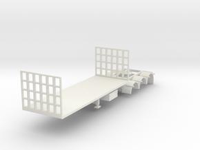 000453 Australia trailer B double HO in White Natural Versatile Plastic