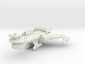 3125 Scale Klingon B10K Battleship WEM in White Natural Versatile Plastic
