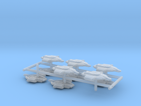 "Federation Defiant Class  1/2"" 10-Pack in Smooth Fine Detail Plastic"
