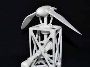 Mechanical Bird Automaton in White Natural Versatile Plastic