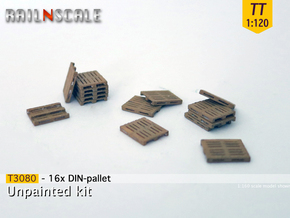 16x DIN-pallet (TT 1:120) in Smooth Fine Detail Plastic