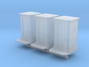 Set di 3 Cabine telefoniche RhB in scala N 1:160 in Smoothest Fine Detail Plastic