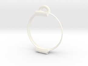 Pocket watch bumper for Pebble Time Round 14mm in White Processed Versatile Plastic