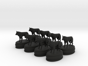 got dire wolf pawns in Black Natural Versatile Plastic