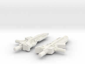 Titans Return Pounce Weapons in White Natural Versatile Plastic