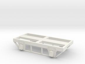 """Four Wheel Frame Base (for 24"""" Wheels) in White Natural Versatile Plastic"""