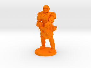 Super Soldier with Heavy weapon in Orange Processed Versatile Plastic
