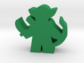 Game Piece, Goblin Hunter in Green Processed Versatile Plastic