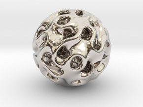 Space Ball in Rhodium Plated Brass