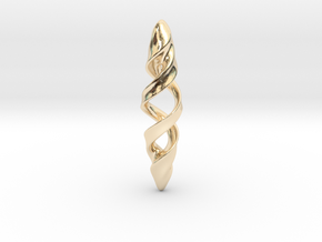 Double Spiral in 14k Gold Plated Brass