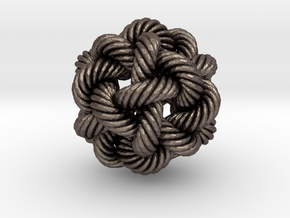 Rope Bead (L) in Polished Bronzed Silver Steel