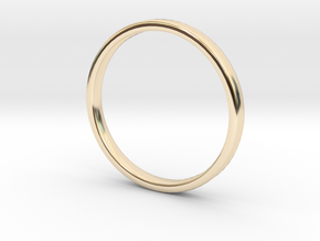 Simple wedding ring 2x1.1mm in 14k Gold Plated: 7 / 54