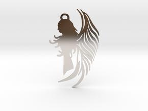 Angel Amulet - Gothic in Rhodium Plated Brass