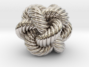 Rope Bead (M) in Rhodium Plated Brass