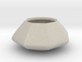Sugar bowl - Circular to octagonal shape (only bow in Natural Sandstone