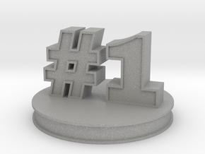 number 1 ( #1 ) miniature in Aluminum