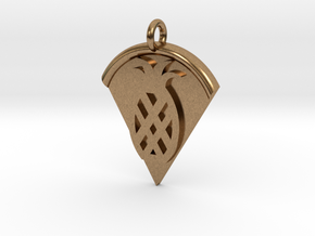 Pineapple Pizza Pendant in Natural Brass