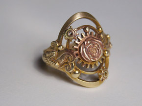 Botanica Mechanicum Ring SIZE 6 in Raw Brass