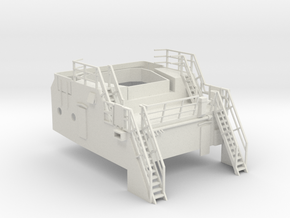 Superstructure 1/75 V60 fits Harbor Tug  in White Natural Versatile Plastic