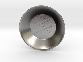 Seal of Saturn Charging Bowl (small) in Polished Nickel Steel