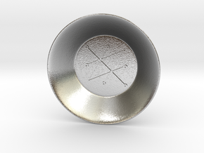 Seal of Saturn Charging Bowl (small) in Natural Silver